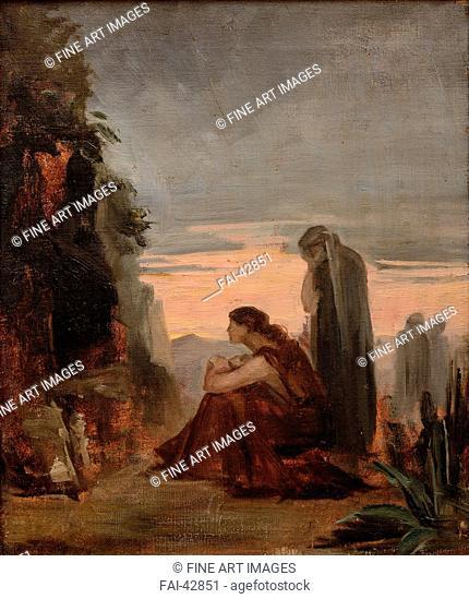 The Myrrhbearers by Bashkirtseva, Maria Konstantinovna (1860-1884)/Oil on canvas/Russian Painting of 19th cen./1883/Russia/State A