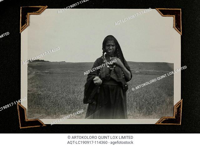 Photograph - Portrait of a 'Bedouin Woman', Middle East, Sister Isabel Erskine Plante, World War II, circa 1942, One of 135 black and white photographs...
