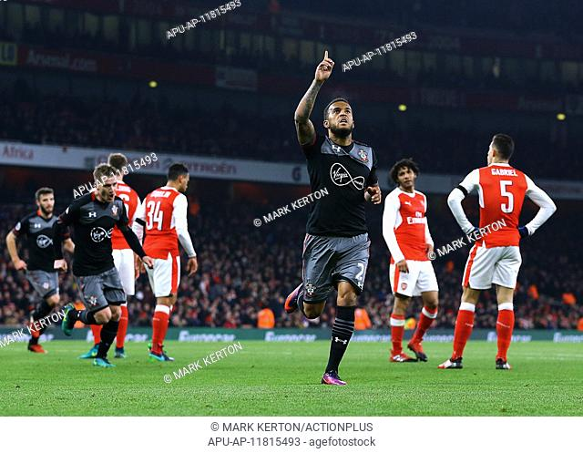 2016 EFL Cup Football Quarter Final Arsenal v Southampton Nov 30th. 30.11.2016. Emirates Stadium, London, England. EFL Cup Football, Quarter Final