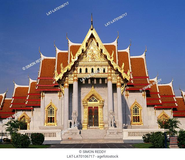 Wat Benjamabophit was built by King Rama V in 1899,hence the name Benjama-bophit which means the fifth king. It was built near Dusit Garden to replace two older...