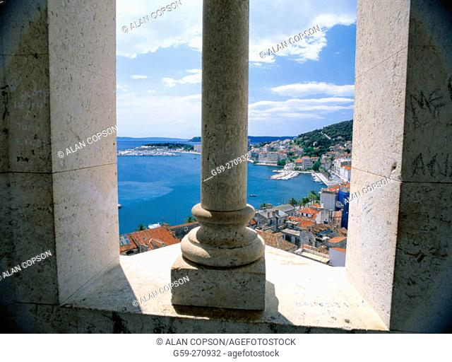 Split from the Cathedral of St. Domnius Tower. Croatia