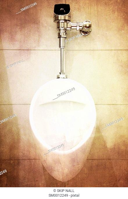 A urinal in a men's bathroom