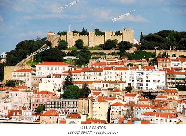 Lisbon cityscape with Sao Jorge Castle