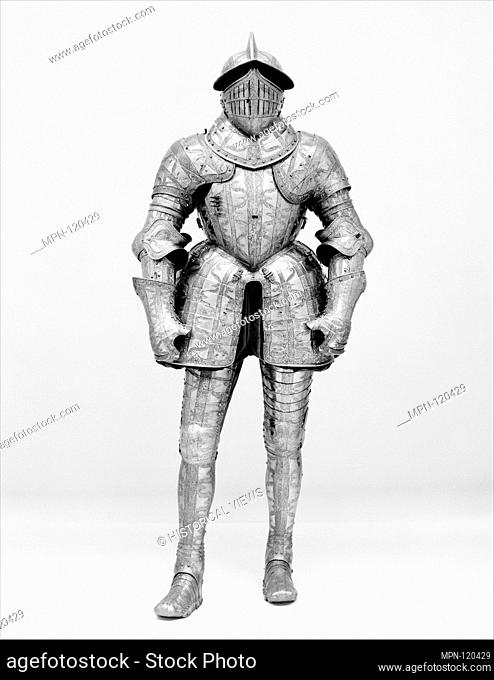 Armor of Henry Herbert (1534-1601), Second Earl of Pembroke. Armorer: Made in the Royal Workshops at Greenwich (British, Greenwich, 1511-1640s); Date: ca