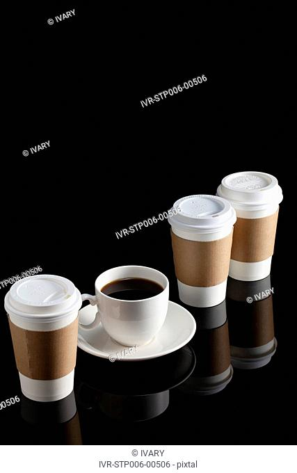 Coffee Cup And Disposable Cup