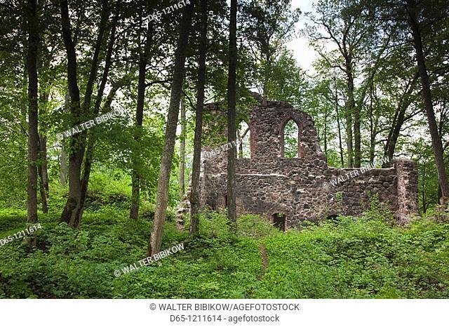 Latvia, Northeastern Latvia, Vidzeme Region, Gauja National Park, Sigulda, ruins of Krimulda Castle, b  1273