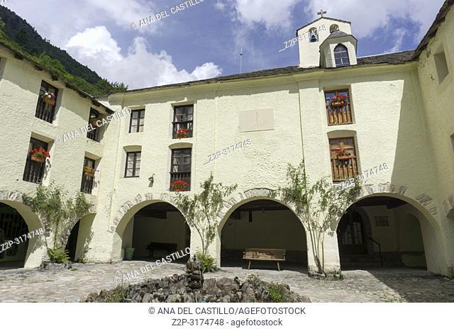 Old chapel in Caldes de Boi spa resort in Lleida Catalunya Spain