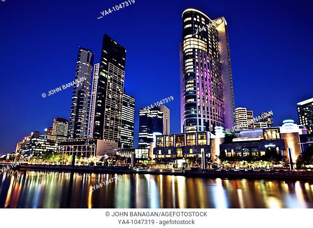 South Bank skyline with Crown casino