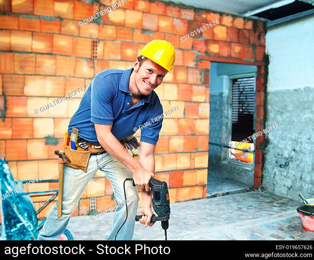 contruction worker on duty