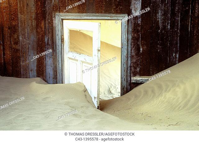 Namibia - Kolmanskop, the abandoned ghost town of the diamond days, east of Lüderitz and inside the restricted Diamond Area