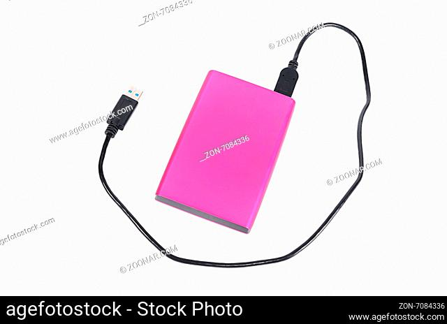 External disk for information storage on white