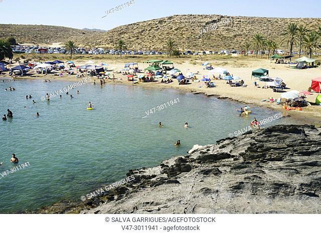 Percheles beach, virgin beach of Mazarrón, Murcia, Spain, Europe