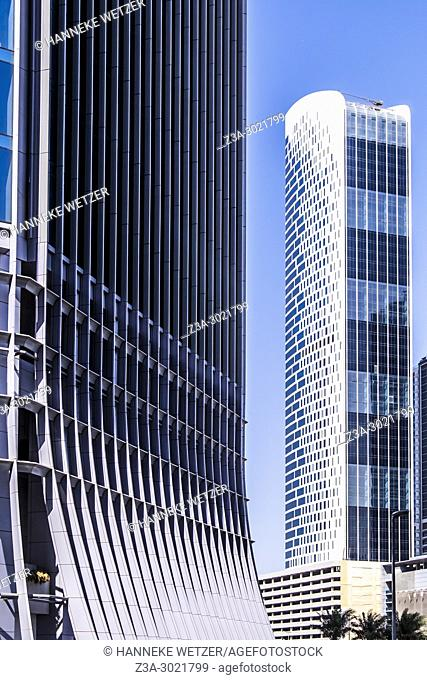The Oberoi Centre; brand new modern architecture in Business Bay, a business capital as well as a freehold city in Dubai, United Arab Emirates