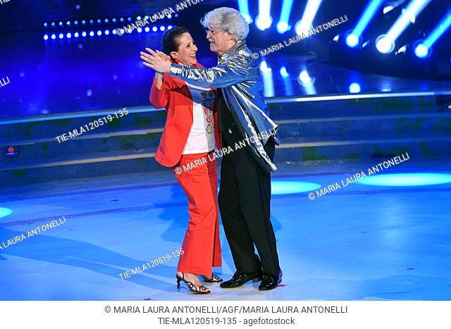 Antonio Razzi dancing with wife Maria Jesus Fernandez at the tv show Ballando con le setelle (Dancing with the stars) Rome, ITALY-11-05-2019