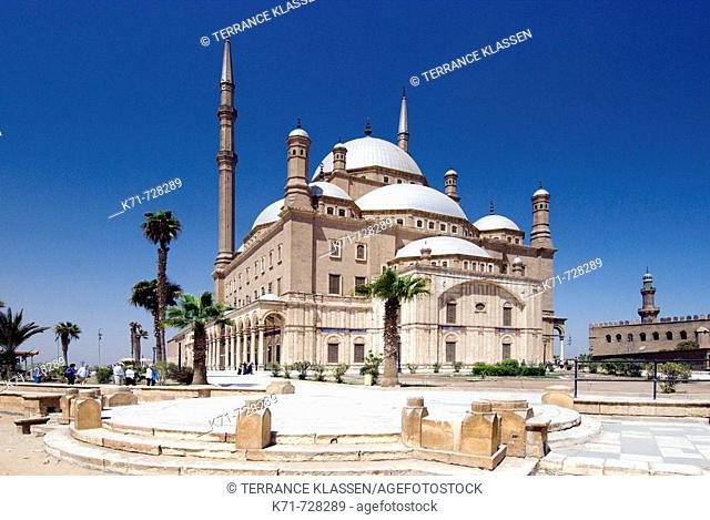 The Alabaster Mosque or the Mosque of Mohammed Ali at the Citadel in Cairo, Egypt