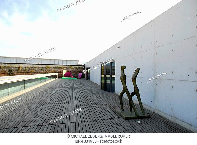 Es Baluard Contemporary Art Museum, modern architecture in the old town wall, Bastio de Sant Pere, Placa, Plaza Porta Santa Catalina, Palma de Mallorca