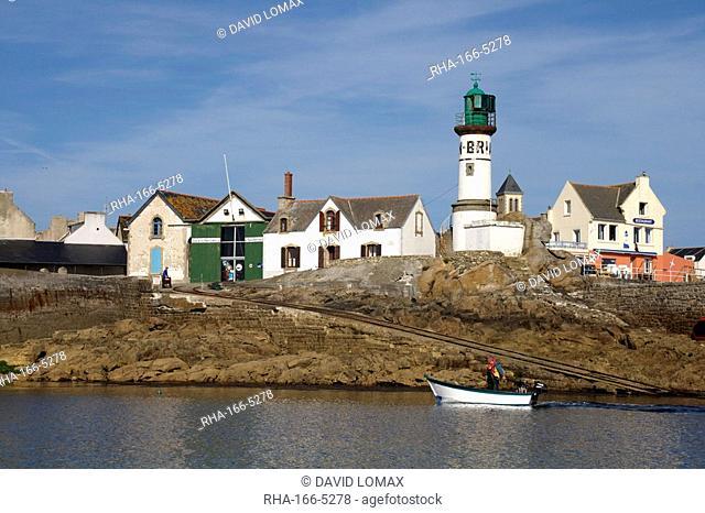 Lifeboat slip, Ile de Sein, Brittany, France, Europe