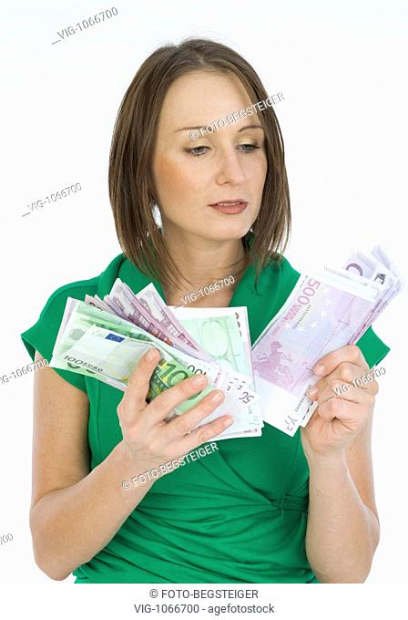 young woman with much money. - 12/11/2008