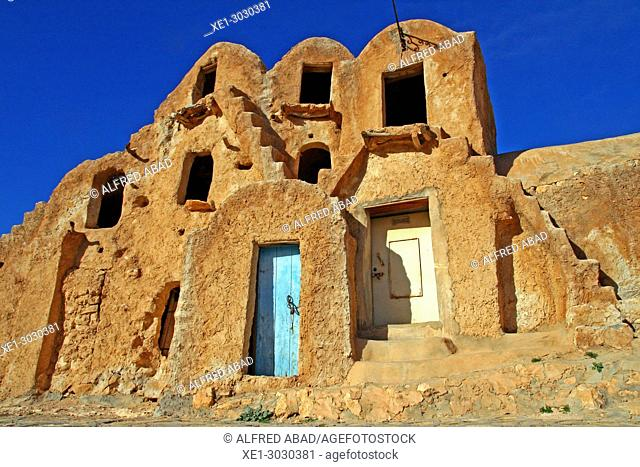 Ksar, Béni Khédache, traditional Berber architecture, Tunisia