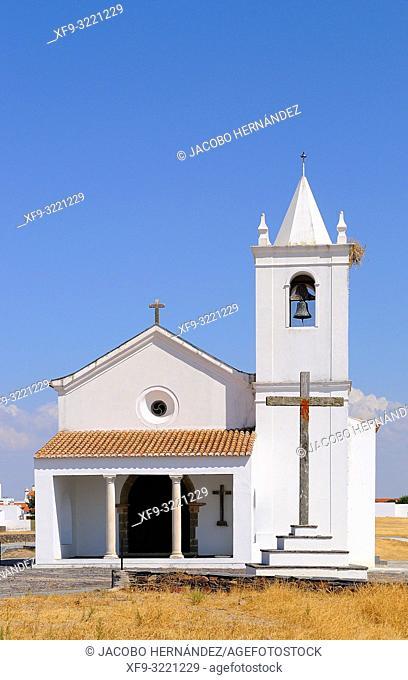 Church of Nossa Senhora da Luz. Aldeia da Luz. Alentejo. Portugal