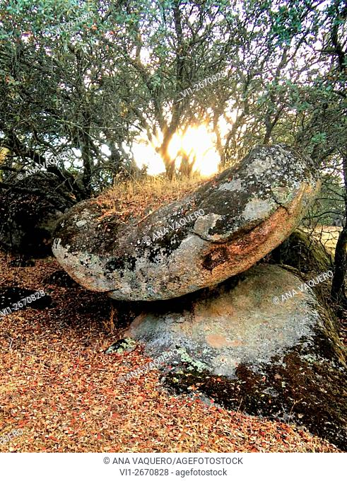 Altar prehistórico, Cancho Gordo, Escurial, Cáceres, Extremadura, España