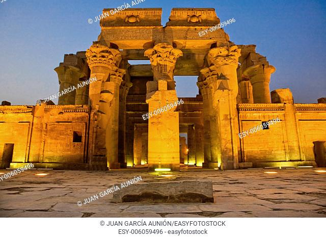 Egypt. Kom Ombo. Temple of Sobek and Haroeris built during the Ptolemaic dynasty