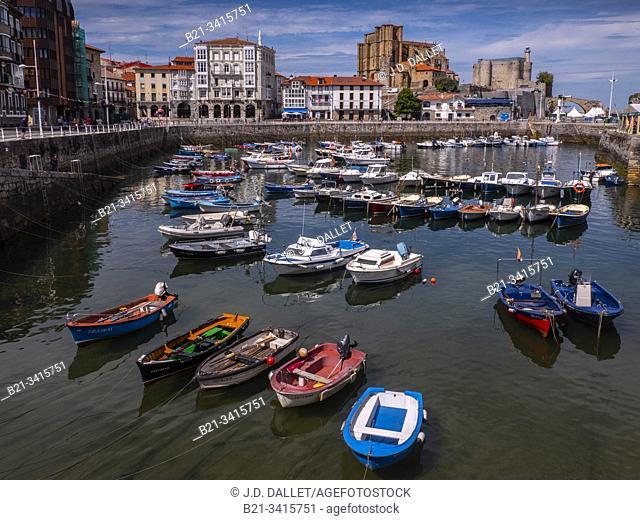 Spain, Cantabria, Santander, Castro Urdiales