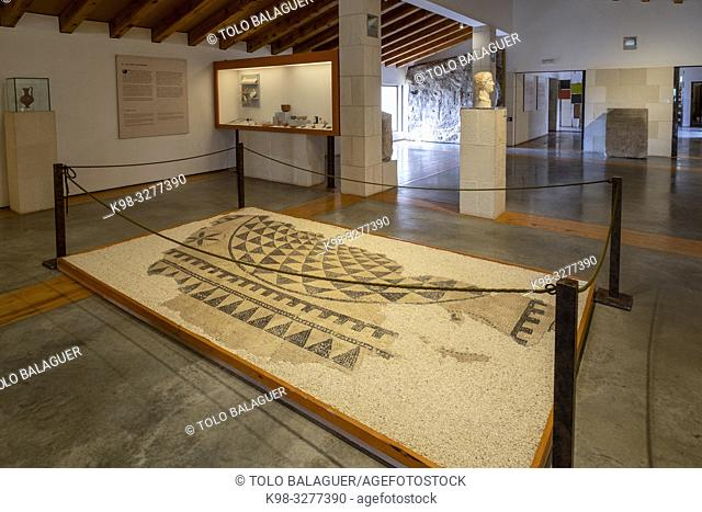 mosaico de la vivienda de Caius Lulius Silvanus, siglo III, Museo-Centro de Interpretación del parque arqueológico de Segóbriga, Saelices, Cuenca