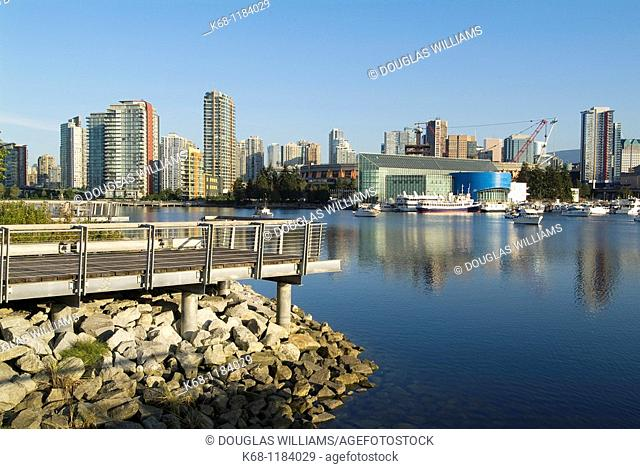 Buildings on False Creek, Vancouver, British Columbia, Canada