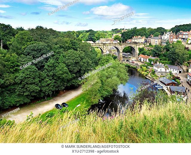 Railway Viaduct over the River Nidd at Knaresborough North Yorkshire England