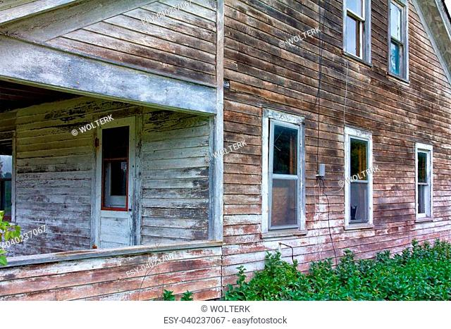 Abandoned and Dilapidated House in Rural United States