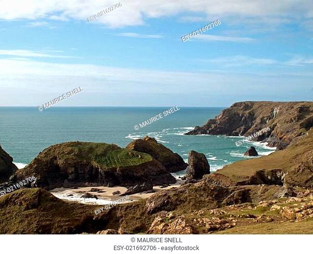 Coastline at Kynance Cove Cornwall