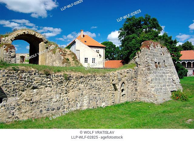 Lipy Water Castle in Ceska Lipa, Ceska Lipa District, Liberec Region, Czech Republic
