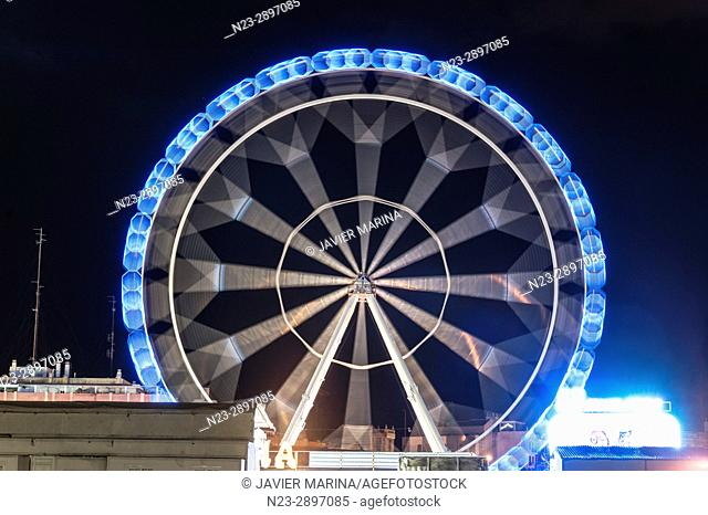 Ferris wheel at the fair in Valencia, Valencian Community, Spain