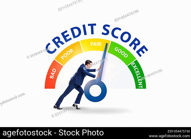 The businessman trying to improve credit score