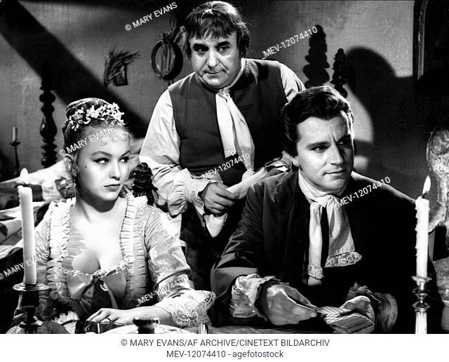 'Marina Vlady & Gabriele Ferzetti Characters: La mariee, Giacomo Casanova Film: Le Avventure Di Giacomo Casanova (1955) Director: Lucio Fuici 06 May 1955...