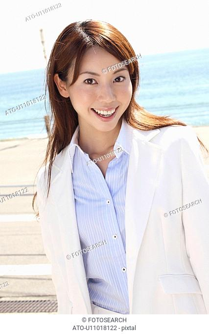 Portrait of Japanese office lady