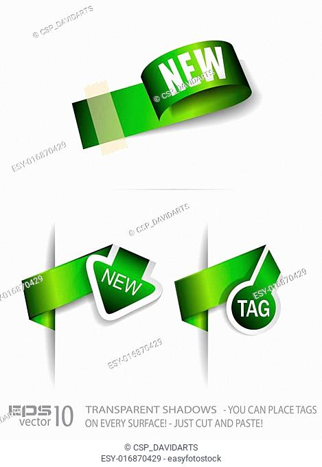 Original Style Green Eco Paper Tags