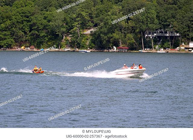 Pleasure boating on Keuka Lake in the Finger Lakes Region of New York State