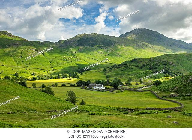 A working farm in the Cumbrian fells