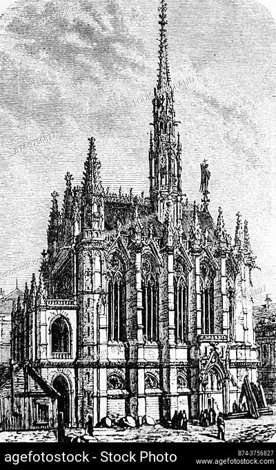 sainte chapelle, paris 1280° , edition lahure 1881