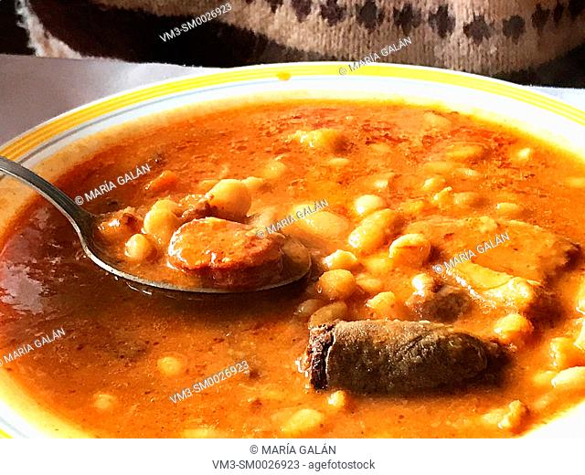 Eating beans stew