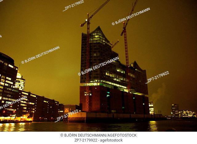 The Elbphilharmonie in Hamburg Speicherstadt / Hafen City