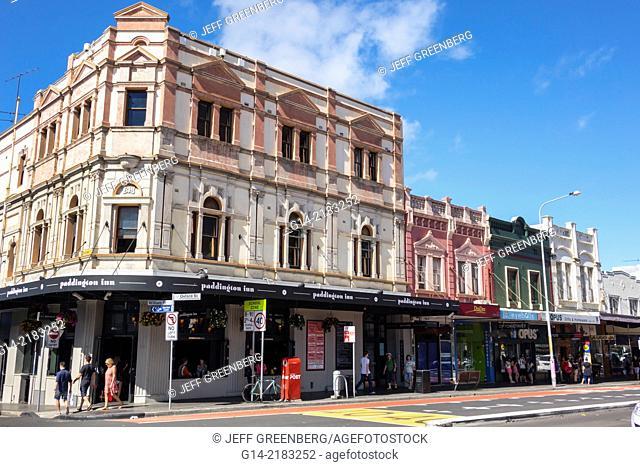 Australia, NSW, New South Wales, Sydney, Paddington, Oxford Street, historic, buildings, Paddington Inn,