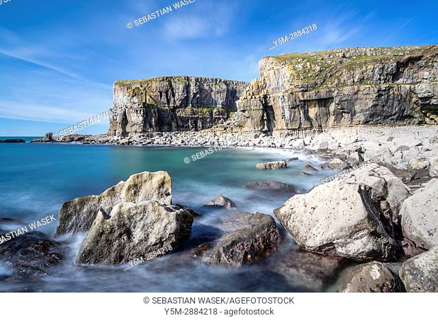 St Govan's Head, Pembrokeshire Coast National Park, Bosherston, Wales, UK