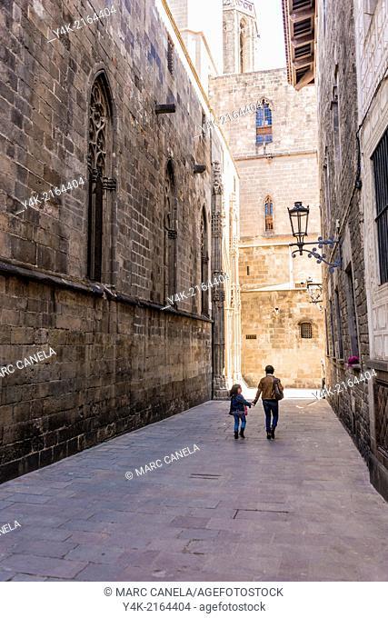 Europe, Spain, Barcelona, Carrer Pietat