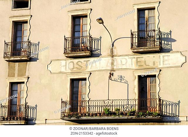 Old hotel, altes Hotel, Azpeitia, Pais Vasco, Basque Country, Baskenland, Spanien, spain