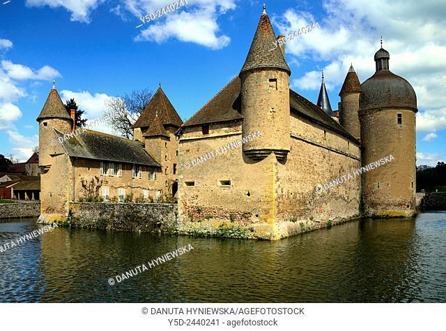 Castle in La Clayette, La Clayette Chateau, Saône-et-Loire department, region of Bourgogne, Burgundy, France