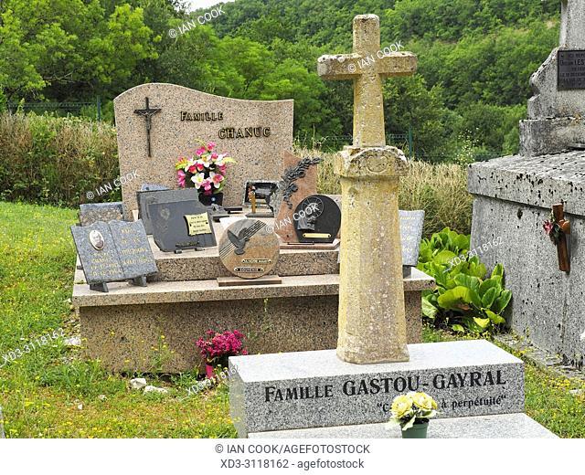 cemetery at Eglise Saint Christophe, Touffailles, Tarn-et-Garonne Department, Occitanie, France