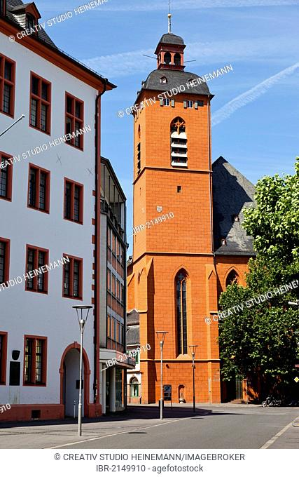 Church of St. Quintin, Mainz, Rhineland-Palatinate, Germany, Europe